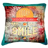 """Belkado Smile Cushion Cover Throw Pillow ( Multi Color, 16""""x16"""" ) - B00TPEMFRS"""