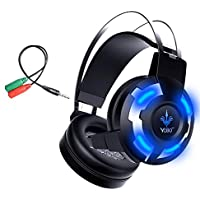Yobo A6 Over-ear Stereo Mega Bass Noise Cancelling Ultimate Luminous Plate Headset With Microphone For PC And...