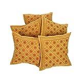 Rajrang Home Furnishing Embroidery Work Cotton Cushion Cover Set Of 5 PCs - B00RCM7NVI