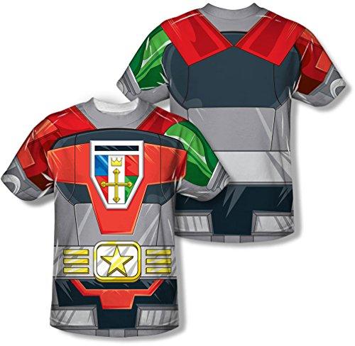 Voltron - Men's Costume T-Shirt (Printed Front/Back Print)