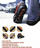 No-Slip Ice Cleats Silicone Rubber Slip Ons for Boots Small, Medium and Large