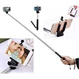 The Selfie Stick Selfie Stick Self Portrait Wireless Cable Control Monopod [Battery Free] Extendable Handled Stick...