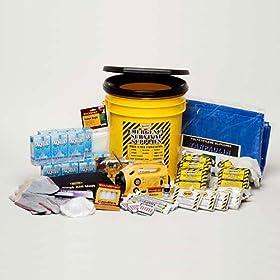 Disaster Preparedness Emergency Survival Kit, Fire, Flood, Earthquake, Hurricane, Tornado. Deluxe Office Kit - 5 Person