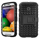 DMG Heavy Duty Rugged Kickstand Armor Case For Motorola Moto E (Black)