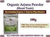 Organic Arjuna Powder 100g Terminalia arjuna / Arjuna Myrobolan Heart Tonic 100% USDA Certified