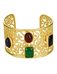 Gehnashop Designer Kada With Multi Color Stone To Give A Dazzling Look For Women