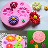 1 Pc Silicone Flower Mold Cake Decorating Chocolate Sugar Craft Mould