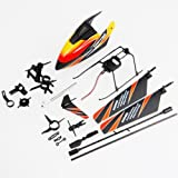 Jmt Wl V911 Quick-wear Accessory Full Kit: Canopy+blade+connecting Parts+landing Skid