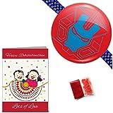 """Best Seller """"Ironman"""" Rakhi With Roli, Chawal & Greeting Card (Kids Rakhi, Cartoon Rakhi, Toy Rakhi, Wristband..."""