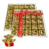 Chocholik's Perfect Combination Of Almond And Fruit & Nut Chocolate Truffles With Small Ganesha Idol - Diwali...