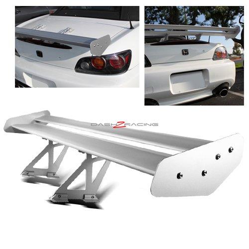 GT Universal Type-V Silver Aluminum Spoiler Wing