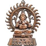 JaipurCrafts Matel Wall Hanging Of Lord Ganesha Showpiece - 24.13 Cm (Aluminium, Brown)