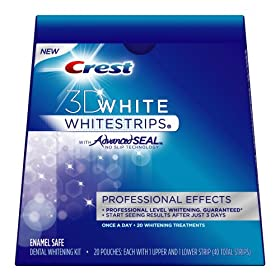 Crest 3D White Whitestrips With Advanced Seal Professional Effects Enamel Safe Dental Whitening Kit, 20-count Carton