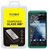 For HTC 816 Round Curved 2.5D Edge FOSO(TM) 9H Hardness Toughened Tempered Glass Screen Guard Protector (99.99%...