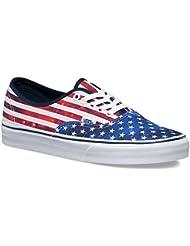 Vans Unisex Authentic Camellia Skate Shoe Dress Blues/True White 12 B(M) US Women / 10.5 D(M) US Men