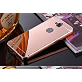 D-kandy Aluminum Metal Bumper With PC Mirror Back Cover Case For Huawei Honor Holly 2 Plus - ROSE GOLD