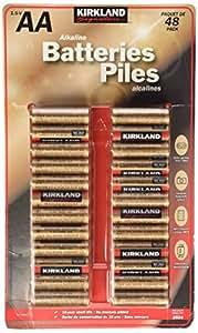 Amazon.com: Kirkland Signature AA 1.5V Alkaline Batteries