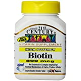 21st Century Biotin Tablets, 800 Mcg, 110 Count (Pack Of 3)