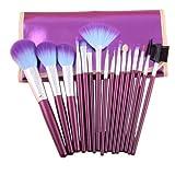 Jovana 16pc Professional Cosmetic Makeup Make Up Brush Brushes Set Kit With Purple Bag Case