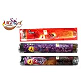 Sai Mangal Agarbatti/Incense Sticks Pooja Special Series- Pooja Special, Lavender & Rose - 1 Pack Each