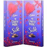 Cadbury Dairy Milk Silk Chocolate Special Valentine Pack, 250g (Pack Of 2)