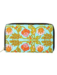 Ethnic Green Printed Cotton Floral Clutch Bag For Girl's By Rajrang