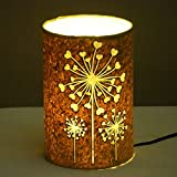 Craftter Flower Of Hearts Bright Yellow Table Lamp