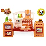 Pretend Play Battery Operated Mini Toy Kitchen Set For Children - Includes Cutlery, Pots N Pans, Gas, Oven And...