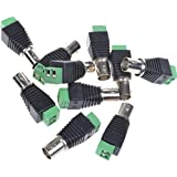 BCP 10PCS BNC Female To Screw Terminal Coaxial Cat5 Coaxial For CCTV Security Camera