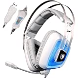 SADES A8 7.1 Surround Sound Stereo Over The Ear PC USB Gaming Headphones With Microphone Vibration Noise Canceling...