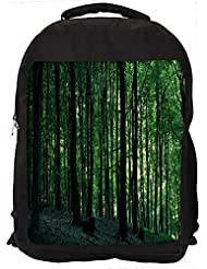 """Snoogg Multiple Trees In Dense Forest Casual Laptop Backpak Fits All 15 - 15.6"""" Inch Laptops"""
