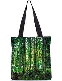 Snoogg Tall Tress With No Leaves Digitally Printed Utility Tote Bag Handbag Made Of Poly Canvas