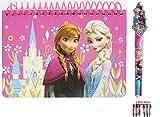 Disney Frozen Elsa and Anna Pink Spiral Autograph Book and 1 Pen
