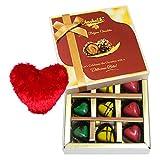 Alluring Chocolate Treat With Heart Pillow - Chocholik Belgium Chocolates