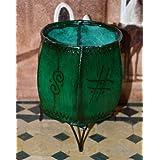 Leather Henna Candle Holder Round Tea-light Votive Moroccan