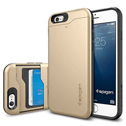 IPhone 6 Case, Spigen Slim Armor CS Case For IPhone 6 (4.7-Inch) - Retail Packaging - Champagne Gold (SGP10967...