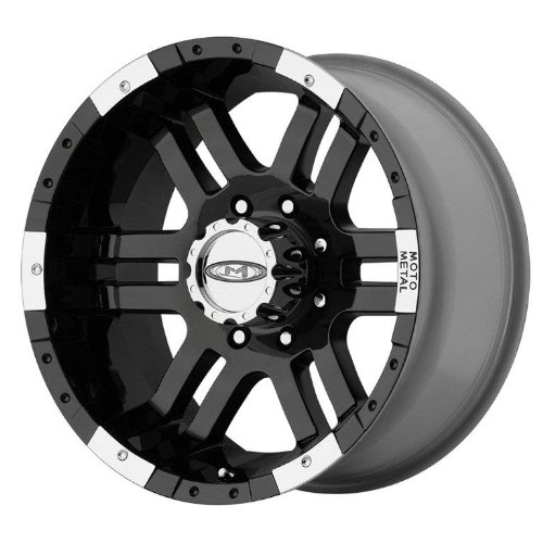 Moto Metal MO951 Gloss Black Wheel With Machined Face (16×8″/6×139.7mm, 0mm offset)