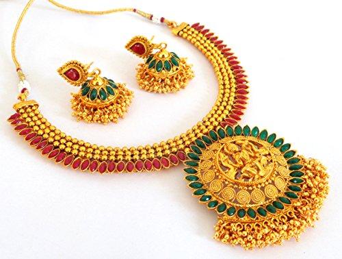 c1ee66c5b70a Megh Craft Women s South Indian Bridal Lakshmi Temple Jewellery - JWLX9