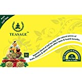 TEASAGE Orange Spice Green Tea - Box Of 10 Pyramid Shaped Tea Bags