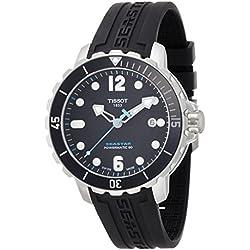 Tissot Men's T0664071705702 Seastar Analog Display Swiss Automatic Black Watch