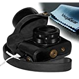 MegaGear 'Ever Ready' Protective Leather Camera Case, Bag For Case For Canon PowerShot G1X Mark II Digital Camera... - B00KIM5HWG