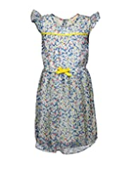 Budding Bees Girls Multicoloured Printed Fit & Flare Dress