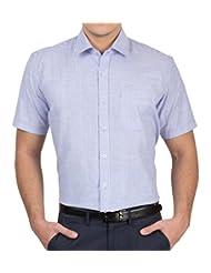 Arihant Men's 40s Lea Linen-100% Formal Half Sleeve Shirt - B00XEB6T2K