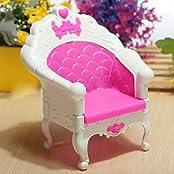 Qiyun Fashion Mini Dollhouse Furniture Living Room Set Chair For Barbies Doll Bedroom Furniture Doll