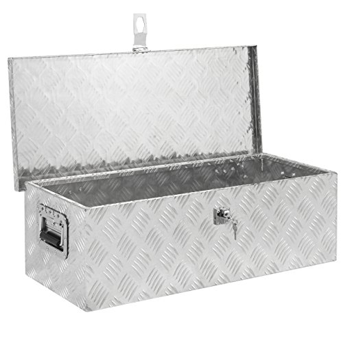 Best Choice Products 30″ Aluminum Camper Tool Box W/ Lock Pickup Truck Bed ATV Trailer Storage