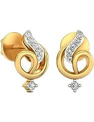 WearYourShine By PC Jeweller The Noa 18 K Gold And Diamond Stud Earrings