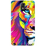 For Samsung Galaxy Note 3 :: Samsung Galaxy Note III :: Samsung Galaxy Note 3 N9002 :: Samsung Galaxy Note N9000 N9005 Illustrator Tiger ( Illustrator Tiger, Tiger, Colored Tiger, Colored ) Printed Designer Back Case Cover By FashionCops