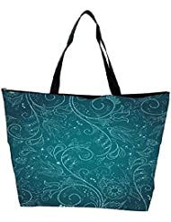 Snoogg Floral Hand Drawn Background Waterproof Bag Made Of High Strength Nylon - B01I1KGZFO
