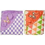 Brandonn Fleece Baby Blanket - Pack Of 2 (bn101+bn105, Purple And Rust)