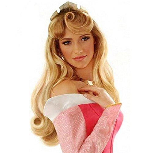 Halloween 2017 Disney Costumes Plus Size & Standard Women's Costume Characters - Women's Costume Characters Women's Long Curls Cosplay Wig for Sleeping Beauty Aurora Princess 27 Inch